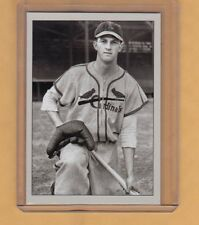 Stan Musial '42 St Louis Cardinals signature photo card Plutograph serial #/200