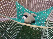 "Ferret Hammock - Brown & Tan Cheetah - 13"" x 14"""