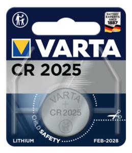 VARTA CR2025 Bouton Lithium 3V Piles - Blister - Date 2030