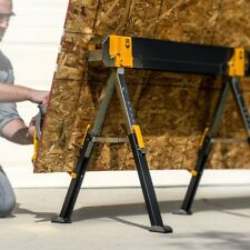Steel Sawhorse Table Support Portable Saw Horse Folding Legs Heavy Duty Metal