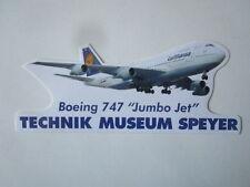 AUTOCOLLANT STICKER AUFKLEBER TECHNIK MUSEUM SPEYER BOEING 747 LUFTHANSA
