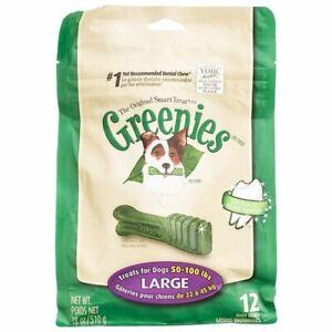 LM Greenies Original Dental Dog Chews Large - 12 Treats - (Dogs 50-100 lbs)