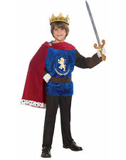 Prince Charming Costume Red & Blue Fairytale Royal Medieval Boys Costume-M
