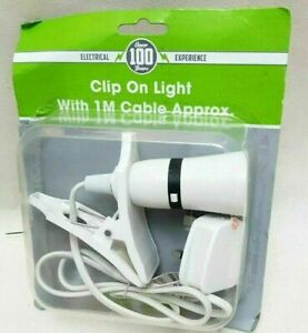 Spot Light Holder Mains 1M Cable Portable Clip On Lamp Room Shed Attic Garage
