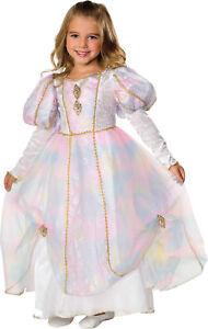 RAINBOW PRINCESS CHILD COSTUME Party Royal Ball Halloween Color Splash Dress