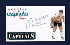Greg Adams signed Washington Capitals hockey index card