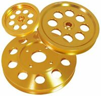 For Skyline Rb20 Rb25 Rb26 Gold Crank Pulley Kit Power Steering Alternator Set