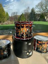 ROYAL MARINES 1980s MARCHING BAND DOUBLE SNARE DRUM 97S