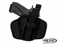 BOBERG XR9-L Leather &  Nylon Thumb Break Pancake Belt Holster, Akar