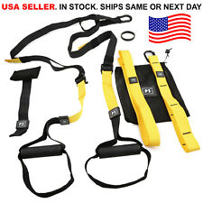 Home Gym Suspension Resistance Strength Training Strap Workout Trainer Fitness
