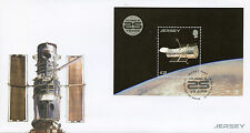 Jersey 2015 FDC Hubble Space Telescope 25 Years 1v M/S Cover Stamps