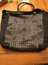 Echo Gray Wool Oversized Tote Bag v12