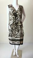 PER UNA Size 12 US 8 Sleeveless Peplum Sheath Dress