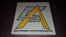 Cummins Allison Conversions Logo DECAL - car truck window decal