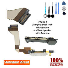 Blanco Puerto de carga repuesto/Asamblea + Micrófono para iPhone 4 (A1332)