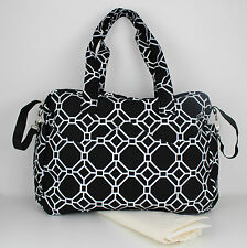 Nappy Diaper Bag Large Duo Delux Onyx Design Changing Bag & FREE Changing Mat