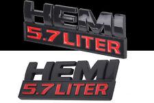 EMBLEM 5,7 LITER HEMI Dodge Ram 1500 2500 Schriftzug Schwarz Aufkleber Abzeichen