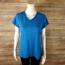 Champion Athletic Shirt Womens Sz L Loose Ample Short Sleeve Fitness Gym Blue