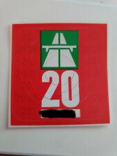 Autobahnvignette Schweiz 2020, gültig bis 31.1.2021 Neu und unbenutzt