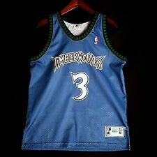 100% Authentic Stephon Marbury Starter Timberwolves away Jersey Size 44 L