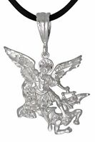 Sterling Silver Archangel Saint Michael Charm Pendant Made In USA eJewelryPlus