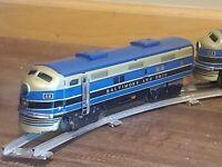 Vintage Standard Scale, B&O Tin Litho Model Train Set. Battery Powered.