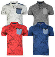 Firetrap New Men's Casual Cotton Polo Piqué Shirt T-shirt Print Fashion Top