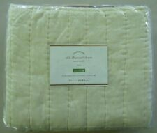 """Pottery Barn Silk Cotton Channel Quilted Euro Pillow Cover Sham NWT Ivory 26"""""""