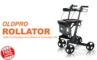 OLDPRO FC01 Heavy Duty Medical Folding 300lb Rolling Seat Rollator Walker EPS17