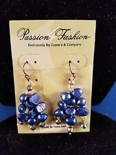 Coyne and Company Earrings Exclusive Blue Stone Dangles 1.5 inches 1