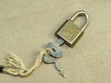 Vintage Alco Miniature Lock Padlock with 2 Keys Made in Japan