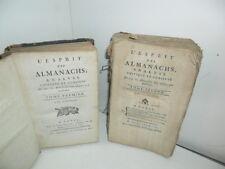 L'Esprit des Almanachs, Analyse Critique & Curieuse de tous les Almanachs - 1782