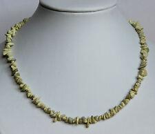 Serpentina Collar de Piedras Preciosas Aprox. 45Cm Largo Cadena Minerales,