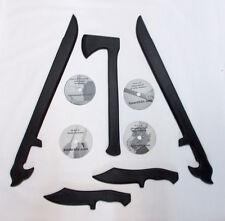 Sword Tomahawk Dagger Martial Arts Training 4 DVD set Karate Knife Defense MMA