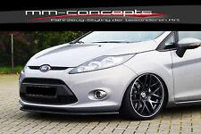 CUP Spoilerlippe SCHWARZ für Ford Fiesta JA8 MK7 Frontspoiler Spoilerschwert
