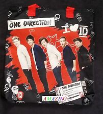 OFFICIEL-I Love One Direction-Moyen Sac Bandoulière-Rouge & Noir 32 x 32 cm