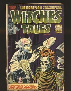 Witches Tales # 23 Fair/Good Cond. cover detached at bottom staple