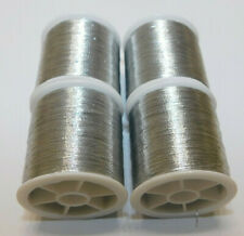 4 Pack Metallic Silver Thread - 440Y - Polyester - Fast Free Shipping