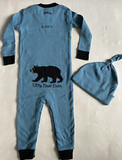 New! NWT Hatley Coverall & Hat Set, One Piece Pajama Sz 12-18 Mo