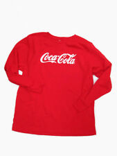 Coca-Cola Youth Large Red Long Sleeve 100% Cotton  - BRAND NEW