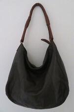 BARNEYS NEW YORK Brown leather Hobo Handbag zip shoulderbag