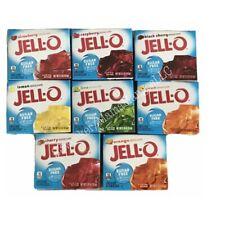 JELL-O Gelatin Sugar Free Variety Bundle, 8 boxes