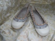BOBBI BLU BEIGE / TAN TRIMS LEATHER / Loafers Pumps MULES  FLATS  7  RIBBON
