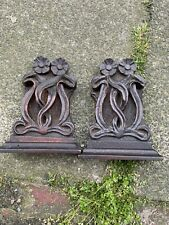 More details for arts and crafts carved oak book ends,beautiful quality