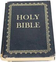 VTG 60s HOLY BIBLE Christian Home Edition 1961 Large Illustrated KJV King James