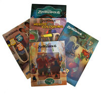 Zootropolis 5 Book Set in Plastic Wallet Activity Sticker Colouring Story New