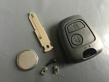 Repair KIT for Citroen C1 C2 C3 2 button remote key case switches & battery DIY
