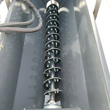 Skid Steer Mixer Auger Bucket Attachment Concrete Feed Sand Withchutes Cat Kubota