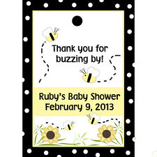 24 Personalized Baby Shower Favor Tags - Mommy To BEE - Bee  Baby Shower