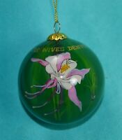 Gold Star Wives Denver 2013 glass painted ornament